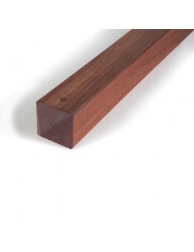 Poteau bois exotique carré 9x9 cm Collstrop Exo
