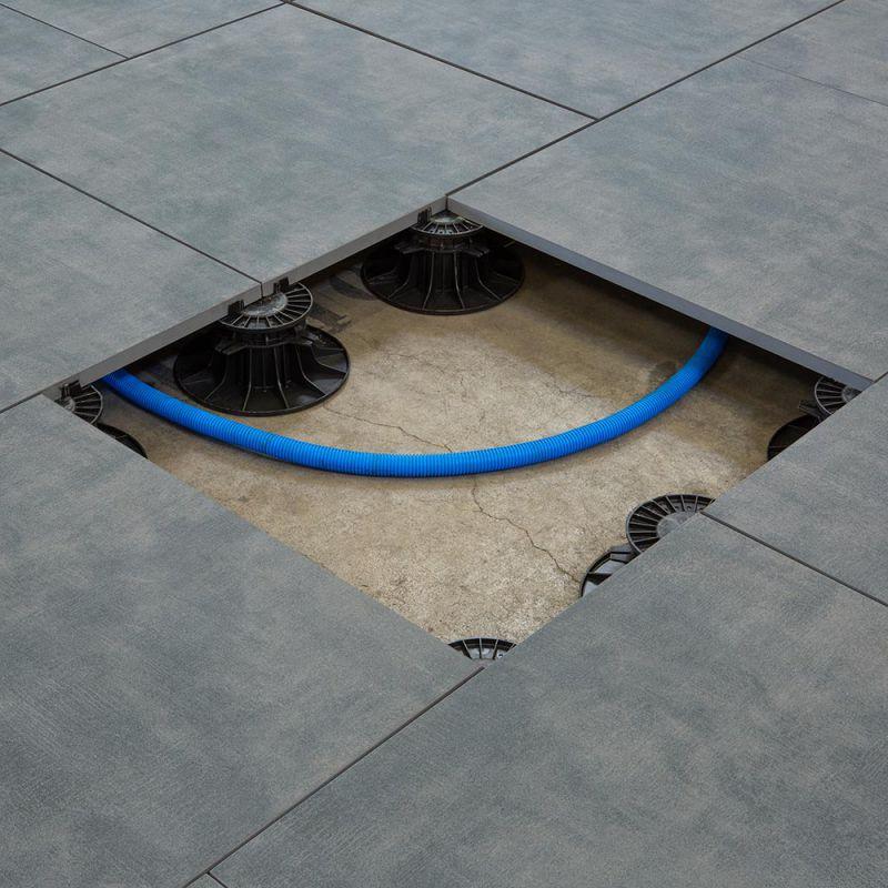 Carrelage sol exterieur pour terrasse - Béton ciré - Art Garden