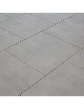 Carrelage pour terrasse sur plots - gris brut - 60 x 60 cm