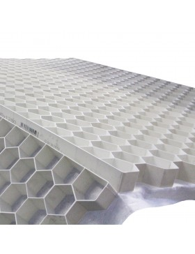 Stabilisateur de gravier 1200x1600 mm Blanc Nidagravel