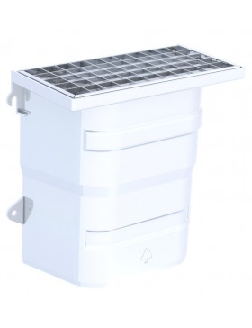 Courette d'aération / grille caillebotis maille 30 x 30 mm