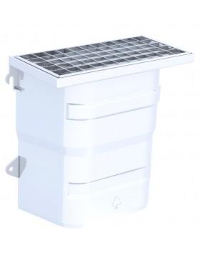 Courette d'aération / grille caillebotis maille carrée