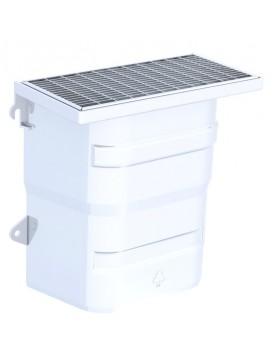 Courette d'aération / grille caillebotis maille 30 x 10 mm