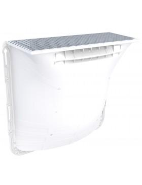 Courette d'aération 1250 x 1000 x 400 mm / grille caillebotis maille carrée