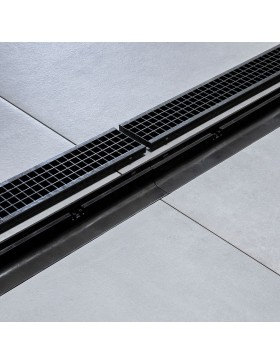 Grille noire extra strong clipsable 1000 x 130 mm – classe A15