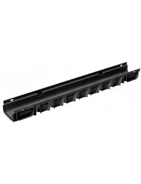 Caniveau Standard plus 1000 x 130 x 75 clipsable- Noir
