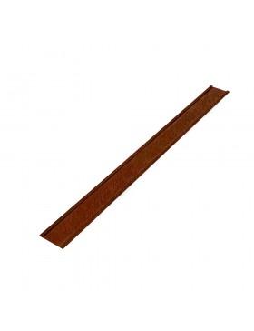 Bordure EasyFix LI 100 Corten - Longueur 120 cm - Hauteur : 10 cm