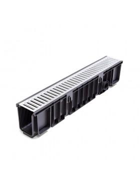 Bausatz Prämie Abflussrinne 1000 x 130 x 150 mm + Gitter verzinktem Stahl A15