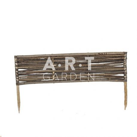 Bordure en noisetier Tressage Horizontal