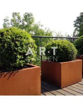 Jardinière design Walfilii Bali pour votre jardin look industriel en acier corten