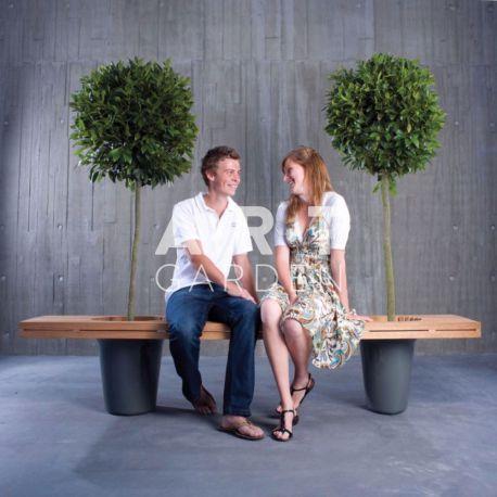 Jardinère design en Bois extremis roméo et juliette