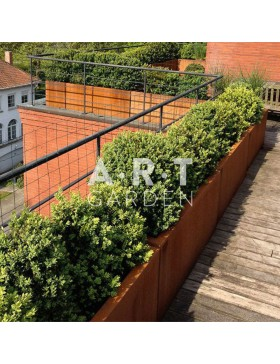 Jardinière design Walfilii Mar pour votre jardin look industriel en acier corten