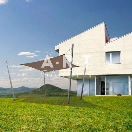 Voile d'ombrage design carré 4m Ingenua