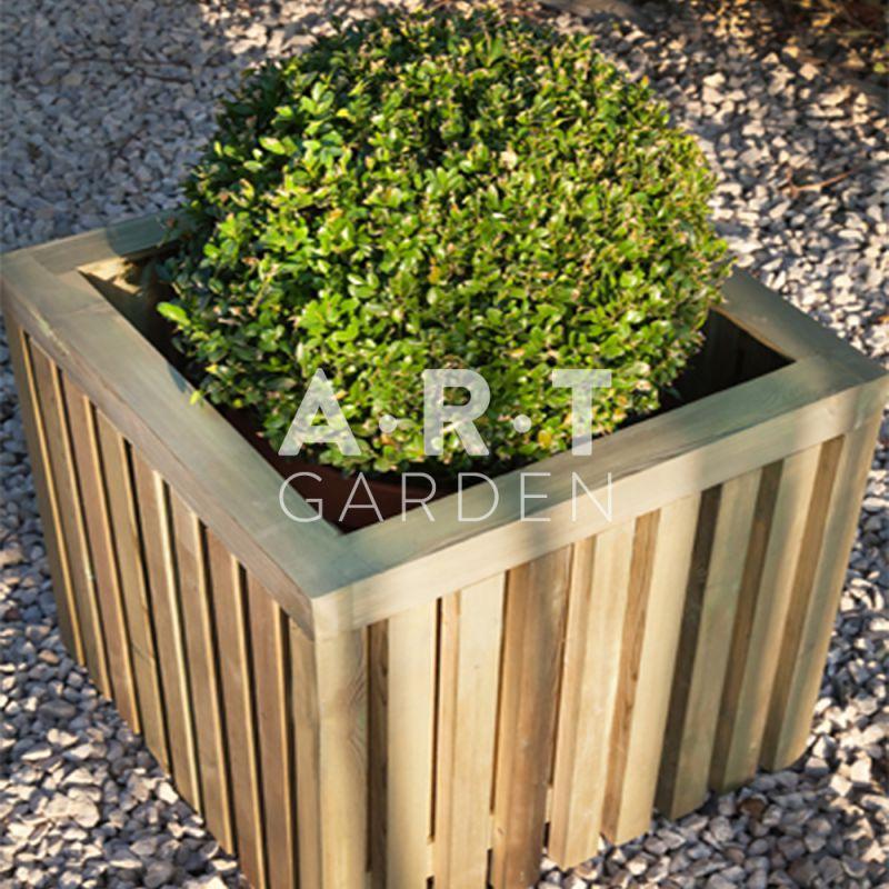 Jardini re bois collstrop bloxx planter pour d coration d ext rieur en pin rouge du nord - Construire jardiniere ...