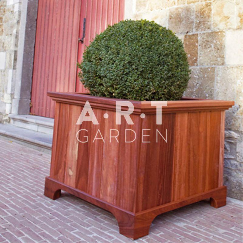Jardini re de la gamme prunus pour plantations ext rieures de taille lev e fabriqu e en bois - Jardiniere en bois ...