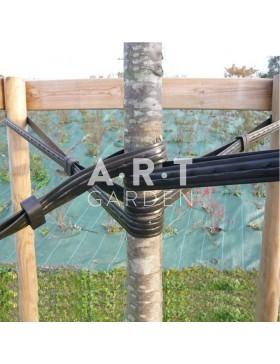 Lanière souple renforcée prépercée pour tuteur arbres