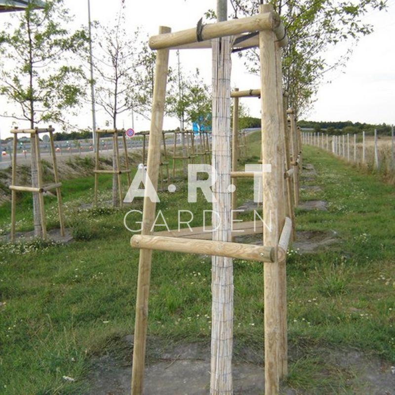 Natte de bambous fendus pour protection tronc - Tronc de bambou decoratif ...