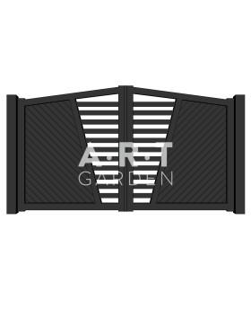 Portail battant aluminium Ascott Europortail