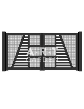 Portail battant aluminium Marlioz Europortail