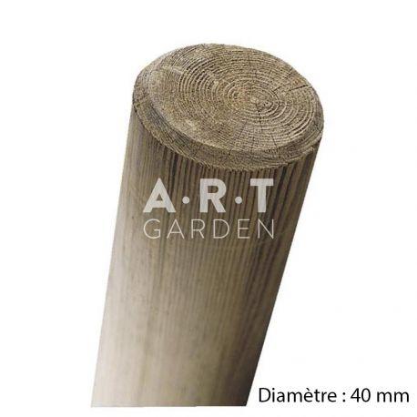 Piquet fraisé pin autoclave diamètre 40 mm qualité pro