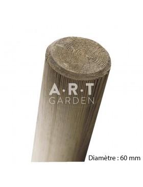 Pied piquet fraisé pin autoclave diamètre 60 mm