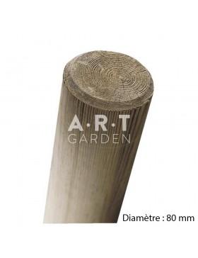 Pied Piquet fraisé pin autoclave diamètre 80 mm
