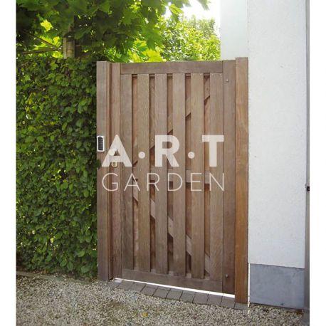 portillon bois exotique isa pour fermeture haute de. Black Bedroom Furniture Sets. Home Design Ideas