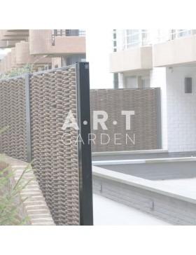 Poteau acier + epoxy pour cloture renforcée tressage composite