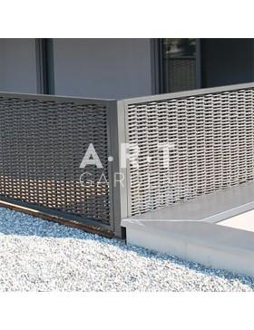 Poteau d'angle acier + epoxy pour cloture renforcée en tressage composite