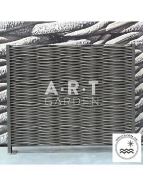 Cloture renforcée double tressage composite fibre arrondie spécial bord de mer