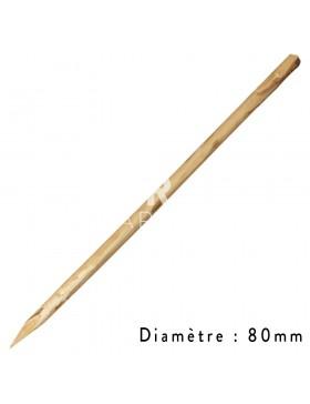 Piquet chataignier diamètre 80 mm