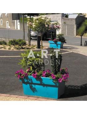 Jardinière design Atech Rectiligne bleu turquoise