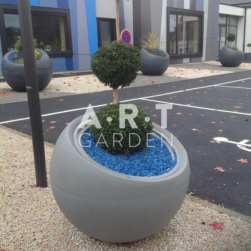 Jardiniere boule grand modele design et tendance Jardiniere exterieur grand modele