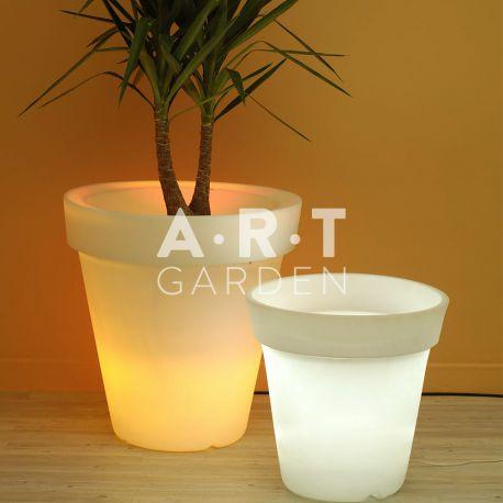 Pots lumineux rond Azuro Papi en intérieur