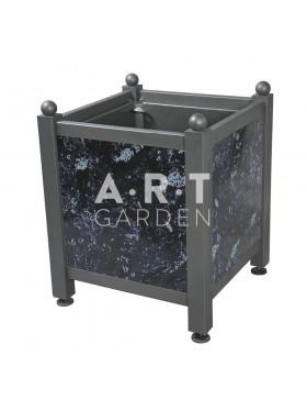 Bac d'orangerie acier avec panneaux tôle émaillée Dualis Atech