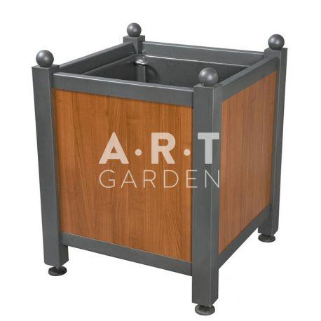 Bac d'orangerie acier avec panneaux bois stratifié lisse Dualis Atech