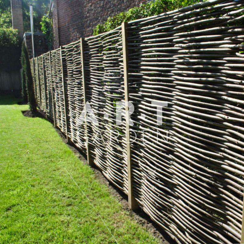 Panneau pour cloture en noisetier tresse qualité pro en bois !