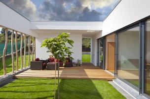 Plot terrasse bois pour pieux métallique Jouplast Elevo